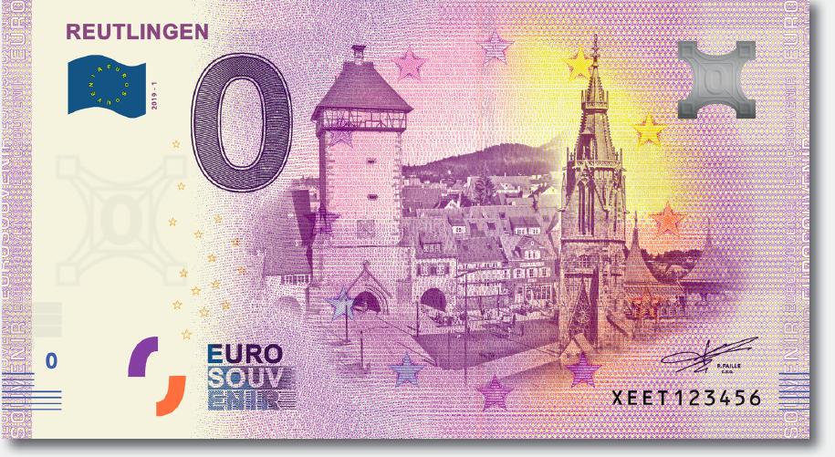 Reutlinger 0-Euro Schein