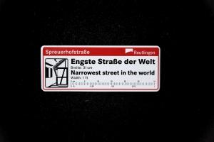 Magnet Engste Straße der Welt