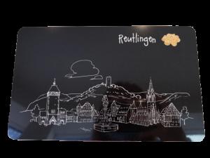 Frühstücksbrettchen Skyline Reutlingen