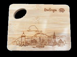 Vesperbrettchen Reutlinger Skyline